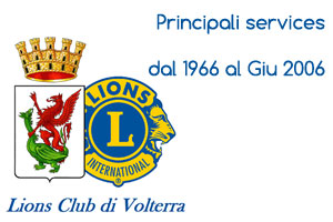 Principali services dal 1966 al Giu 2006