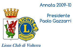Annata 2009-10 Presidente Paolo Gazzarri